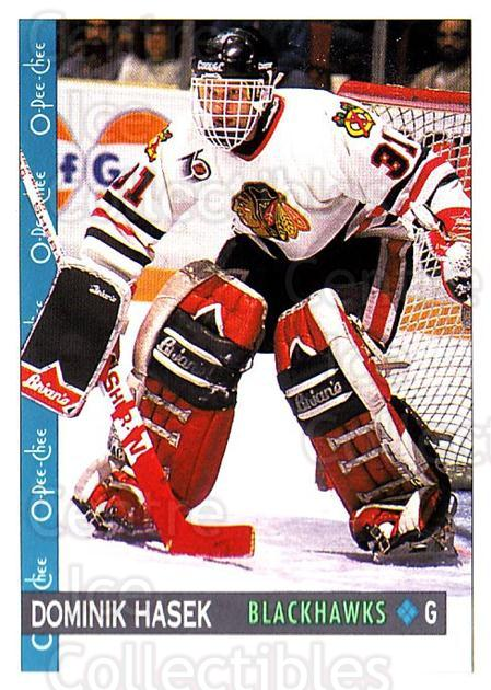 1992-93 O-Pee-Chee #301 Dominik Hasek<br/>3 In Stock - $1.00 each - <a href=https://centericecollectibles.foxycart.com/cart?name=1992-93%20O-Pee-Chee%20%23301%20Dominik%20Hasek...&quantity_max=3&price=$1.00&code=254796 class=foxycart> Buy it now! </a>