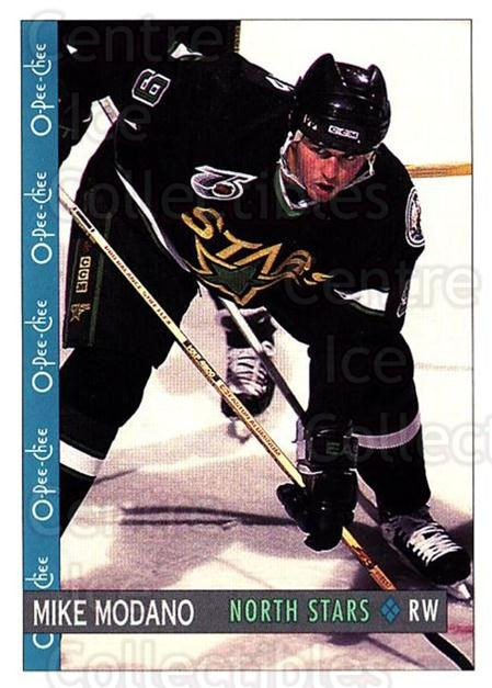 1992-93 O-Pee-Chee #313 Mike Modano<br/>2 In Stock - $1.00 each - <a href=https://centericecollectibles.foxycart.com/cart?name=1992-93%20O-Pee-Chee%20%23313%20Mike%20Modano...&quantity_max=2&price=$1.00&code=254808 class=foxycart> Buy it now! </a>