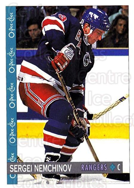 1992-93 O-Pee-Chee #316 Sergei Nemchinov<br/>6 In Stock - $1.00 each - <a href=https://centericecollectibles.foxycart.com/cart?name=1992-93%20O-Pee-Chee%20%23316%20Sergei%20Nemchino...&quantity_max=6&price=$1.00&code=254811 class=foxycart> Buy it now! </a>
