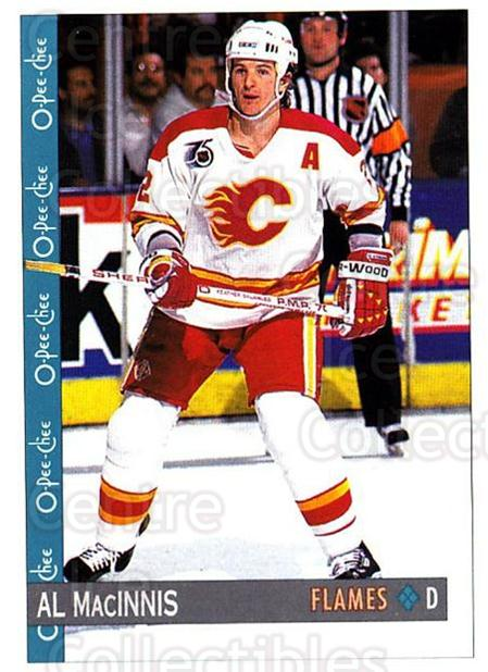 1992-93 O-Pee-Chee #330 Al MacInnis<br/>5 In Stock - $1.00 each - <a href=https://centericecollectibles.foxycart.com/cart?name=1992-93%20O-Pee-Chee%20%23330%20Al%20MacInnis...&quantity_max=5&price=$1.00&code=254825 class=foxycart> Buy it now! </a>