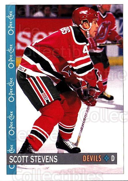 1992-93 O-Pee-Chee #336 Scott Stevens<br/>6 In Stock - $1.00 each - <a href=https://centericecollectibles.foxycart.com/cart?name=1992-93%20O-Pee-Chee%20%23336%20Scott%20Stevens...&quantity_max=6&price=$1.00&code=254831 class=foxycart> Buy it now! </a>