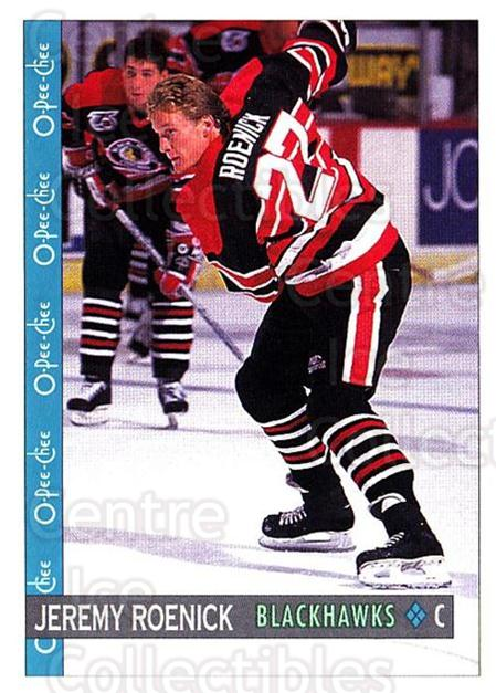 1992-93 O-Pee-Chee #345 Jeremy Roenick<br/>2 In Stock - $1.00 each - <a href=https://centericecollectibles.foxycart.com/cart?name=1992-93%20O-Pee-Chee%20%23345%20Jeremy%20Roenick...&quantity_max=2&price=$1.00&code=254840 class=foxycart> Buy it now! </a>