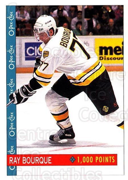 1992-93 O-Pee-Chee #348 Ray Bourque<br/>5 In Stock - $1.00 each - <a href=https://centericecollectibles.foxycart.com/cart?name=1992-93%20O-Pee-Chee%20%23348%20Ray%20Bourque...&quantity_max=5&price=$1.00&code=254843 class=foxycart> Buy it now! </a>