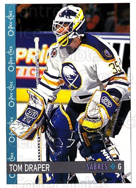 1992-93 O-Pee-Chee #376 Tom Draper<br/>4 In Stock - $1.00 each - <a href=https://centericecollectibles.foxycart.com/cart?name=1992-93%20O-Pee-Chee%20%23376%20Tom%20Draper...&quantity_max=4&price=$1.00&code=254871 class=foxycart> Buy it now! </a>