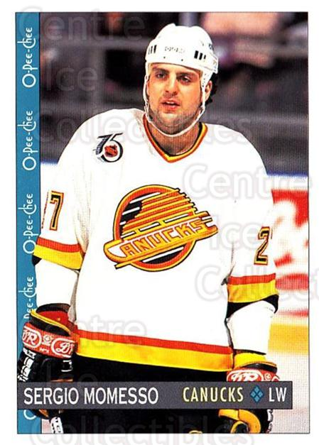1992-93 O-Pee-Chee #377 Sergio Momesso<br/>5 In Stock - $1.00 each - <a href=https://centericecollectibles.foxycart.com/cart?name=1992-93%20O-Pee-Chee%20%23377%20Sergio%20Momesso...&quantity_max=5&price=$1.00&code=254872 class=foxycart> Buy it now! </a>