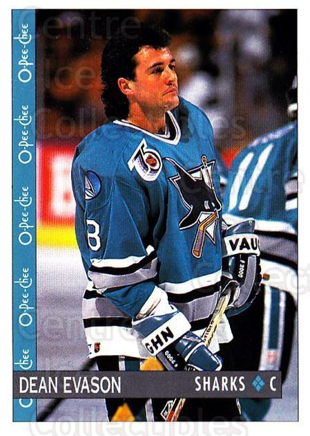 1992-93 O-Pee-Chee #381 Dean Evason<br/>4 In Stock - $1.00 each - <a href=https://centericecollectibles.foxycart.com/cart?name=1992-93%20O-Pee-Chee%20%23381%20Dean%20Evason...&quantity_max=4&price=$1.00&code=254876 class=foxycart> Buy it now! </a>