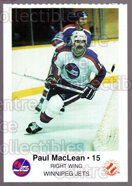 1985-86 Winnipeg Jets Police #10 Paul MacLean<br/>6 In Stock - $3.00 each - <a href=https://centericecollectibles.foxycart.com/cart?name=1985-86%20Winnipeg%20Jets%20Police%20%2310%20Paul%20MacLean...&quantity_max=6&price=$3.00&code=25488 class=foxycart> Buy it now! </a>