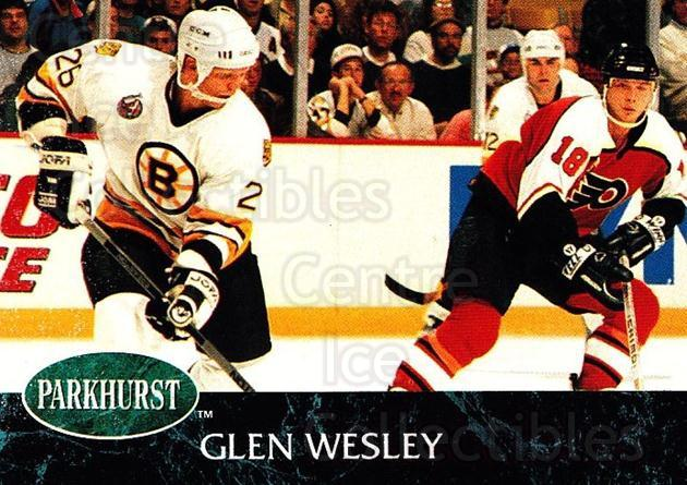 1992-93 Parkhurst #6 Glen Wesley<br/>4 In Stock - $1.00 each - <a href=https://centericecollectibles.foxycart.com/cart?name=1992-93%20Parkhurst%20%236%20Glen%20Wesley...&quantity_max=4&price=$1.00&code=254897 class=foxycart> Buy it now! </a>