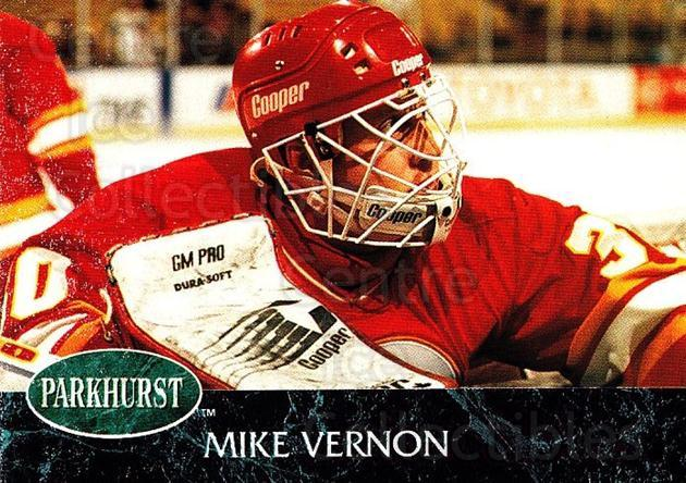 1992-93 Parkhurst #24 Mike Vernon<br/>4 In Stock - $1.00 each - <a href=https://centericecollectibles.foxycart.com/cart?name=1992-93%20Parkhurst%20%2324%20Mike%20Vernon...&quantity_max=4&price=$1.00&code=254915 class=foxycart> Buy it now! </a>