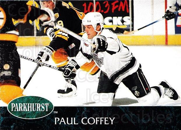 1992-93 Parkhurst #63 Paul Coffey<br/>2 In Stock - $1.00 each - <a href=https://centericecollectibles.foxycart.com/cart?name=1992-93%20Parkhurst%20%2363%20Paul%20Coffey...&quantity_max=2&price=$1.00&code=254954 class=foxycart> Buy it now! </a>