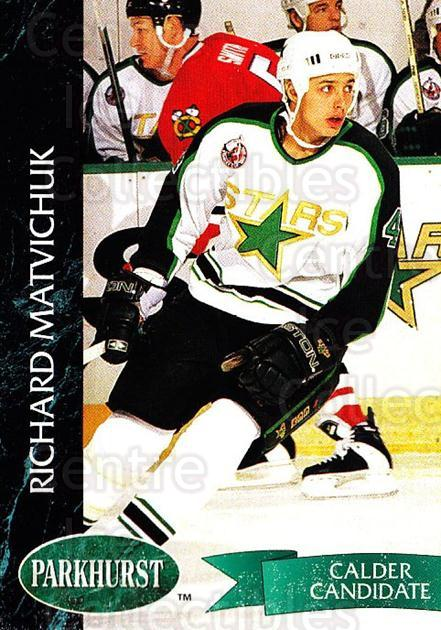 1992-93 Parkhurst #74 Richard Matvichuk<br/>5 In Stock - $1.00 each - <a href=https://centericecollectibles.foxycart.com/cart?name=1992-93%20Parkhurst%20%2374%20Richard%20Matvich...&quantity_max=5&price=$1.00&code=254965 class=foxycart> Buy it now! </a>