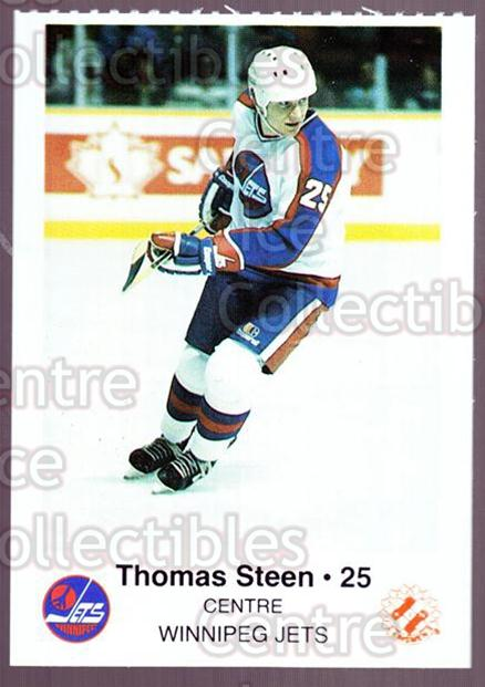 1985-86 Winnipeg Jets Police #19 Thomas Steen<br/>2 In Stock - $3.00 each - <a href=https://centericecollectibles.foxycart.com/cart?name=1985-86%20Winnipeg%20Jets%20Police%20%2319%20Thomas%20Steen...&quantity_max=2&price=$3.00&code=25497 class=foxycart> Buy it now! </a>