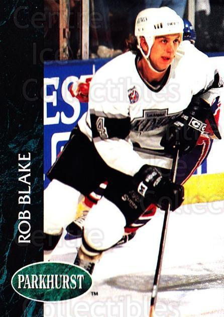 1992-93 Parkhurst #302 Rob Blake<br/>5 In Stock - $1.00 each - <a href=https://centericecollectibles.foxycart.com/cart?name=1992-93%20Parkhurst%20%23302%20Rob%20Blake...&quantity_max=5&price=$1.00&code=255193 class=foxycart> Buy it now! </a>