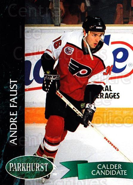 1992-93 Parkhurst #365 Andre Faust<br/>2 In Stock - $1.00 each - <a href=https://centericecollectibles.foxycart.com/cart?name=1992-93%20Parkhurst%20%23365%20Andre%20Faust...&quantity_max=2&price=$1.00&code=255256 class=foxycart> Buy it now! </a>
