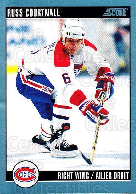 1992-93 Score Canadian #4 Russ Courtnall<br/>4 In Stock - $1.00 each - <a href=https://centericecollectibles.foxycart.com/cart?name=1992-93%20Score%20Canadian%20%234%20Russ%20Courtnall...&quantity_max=4&price=$1.00&code=255405 class=foxycart> Buy it now! </a>