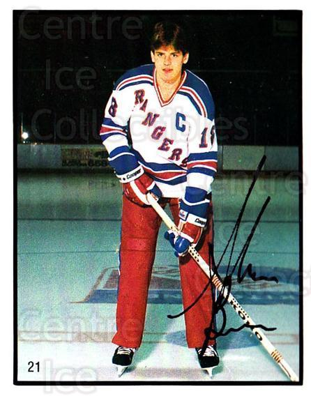 1985-86 Kitchener Rangers #21 Shawn Burr<br/>3 In Stock - $3.00 each - <a href=https://centericecollectibles.foxycart.com/cart?name=1985-86%20Kitchener%20Rangers%20%2321%20Shawn%20Burr...&quantity_max=3&price=$3.00&code=25548 class=foxycart> Buy it now! </a>