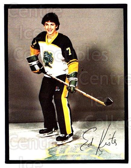1985-86 London Knights #11 Ed Kister<br/>6 In Stock - $3.00 each - <a href=https://centericecollectibles.foxycart.com/cart?name=1985-86%20London%20Knights%20%2311%20Ed%20Kister...&quantity_max=6&price=$3.00&code=25566 class=foxycart> Buy it now! </a>