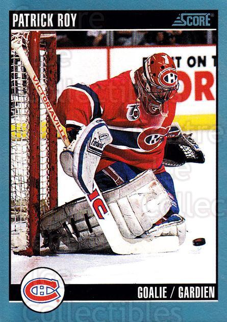1992-93 Score Canadian #295 Patrick Roy<br/>4 In Stock - $1.00 each - <a href=https://centericecollectibles.foxycart.com/cart?name=1992-93%20Score%20Canadian%20%23295%20Patrick%20Roy...&price=$1.00&code=255696 class=foxycart> Buy it now! </a>