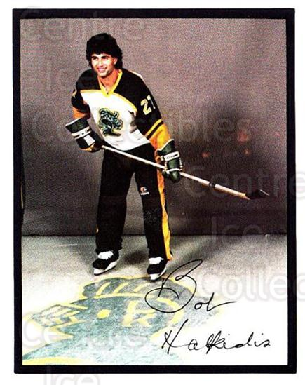 1985-86 London Knights #7 Bob Halkidis<br/>3 In Stock - $3.00 each - <a href=https://centericecollectibles.foxycart.com/cart?name=1985-86%20London%20Knights%20%237%20Bob%20Halkidis...&quantity_max=3&price=$3.00&code=25590 class=foxycart> Buy it now! </a>