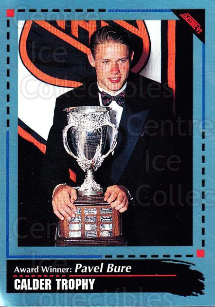 1992-93 Score Canadian #523 Pavel Bure, Calder Trophy<br/>4 In Stock - $1.00 each - <a href=https://centericecollectibles.foxycart.com/cart?name=1992-93%20Score%20Canadian%20%23523%20Pavel%20Bure,%20Cal...&quantity_max=4&price=$1.00&code=255924 class=foxycart> Buy it now! </a>