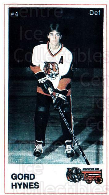 1985-86 Medicine Hat Tigers #17 Gordon Hynes<br/>4 In Stock - $3.00 each - <a href=https://centericecollectibles.foxycart.com/cart?name=1985-86%20Medicine%20Hat%20Tigers%20%2317%20Gordon%20Hynes...&quantity_max=4&price=$3.00&code=25598 class=foxycart> Buy it now! </a>