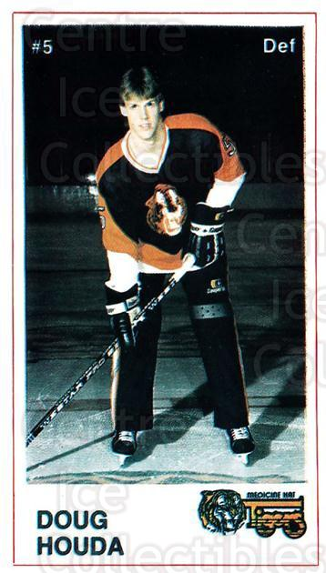 1985-86 Medicine Hat Tigers #2 Doug Houda<br/>4 In Stock - $3.00 each - <a href=https://centericecollectibles.foxycart.com/cart?name=1985-86%20Medicine%20Hat%20Tigers%20%232%20Doug%20Houda...&quantity_max=4&price=$3.00&code=25601 class=foxycart> Buy it now! </a>