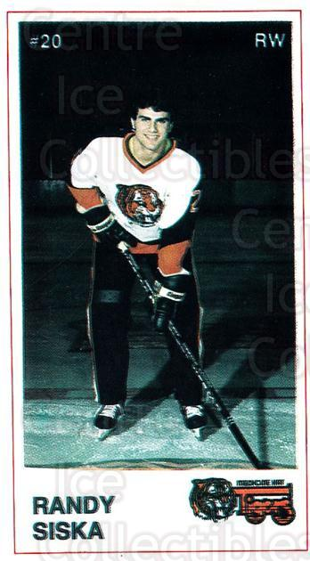 1985-86 Medicine Hat Tigers #21 Randy Siska<br/>5 In Stock - $3.00 each - <a href=https://centericecollectibles.foxycart.com/cart?name=1985-86%20Medicine%20Hat%20Tigers%20%2321%20Randy%20Siska...&quantity_max=5&price=$3.00&code=25603 class=foxycart> Buy it now! </a>