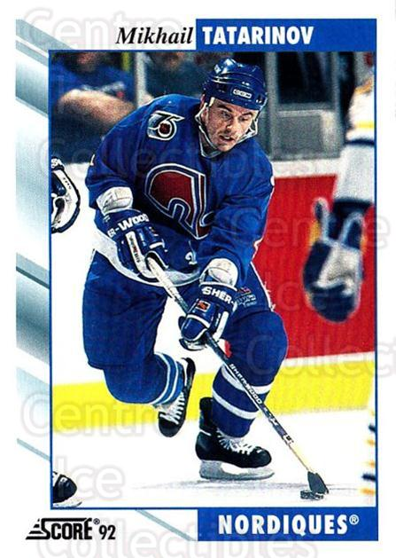 1992-93 Score USA #107 Mikhail Tatarinov<br/>4 In Stock - $1.00 each - <a href=https://centericecollectibles.foxycart.com/cart?name=1992-93%20Score%20USA%20%23107%20Mikhail%20Tatarin...&quantity_max=4&price=$1.00&code=256058 class=foxycart> Buy it now! </a>