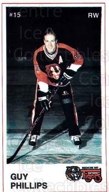 1985-86 Medicine Hat Tigers #4 Guy Phillips<br/>4 In Stock - $3.00 each - <a href=https://centericecollectibles.foxycart.com/cart?name=1985-86%20Medicine%20Hat%20Tigers%20%234%20Guy%20Phillips...&quantity_max=4&price=$3.00&code=25608 class=foxycart> Buy it now! </a>