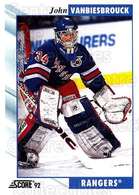 1992-93 Score USA #160 John Vanbiesbrouck<br/>2 In Stock - $1.00 each - <a href=https://centericecollectibles.foxycart.com/cart?name=1992-93%20Score%20USA%20%23160%20John%20Vanbiesbro...&quantity_max=2&price=$1.00&code=256111 class=foxycart> Buy it now! </a>
