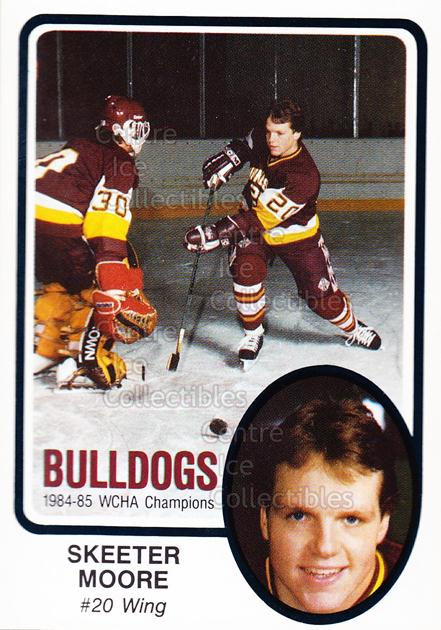1985-86 Minnesota-Duluth Bulldogs #1 Skeeter Moore<br/>13 In Stock - $3.00 each - <a href=https://centericecollectibles.foxycart.com/cart?name=1985-86%20Minnesota-Duluth%20Bulldogs%20%231%20Skeeter%20Moore...&quantity_max=13&price=$3.00&code=25612 class=foxycart> Buy it now! </a>