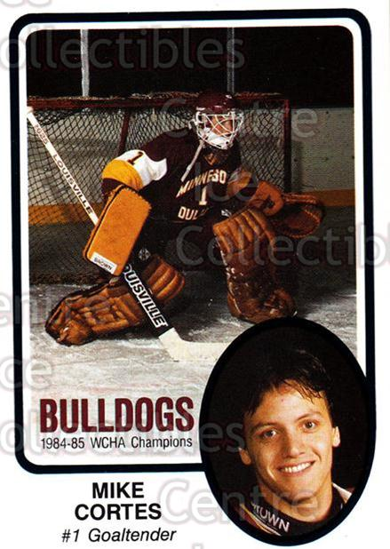 1985-86 Minnesota-Duluth Bulldogs #14 Mike Cortes<br/>9 In Stock - $3.00 each - <a href=https://centericecollectibles.foxycart.com/cart?name=1985-86%20Minnesota-Duluth%20Bulldogs%20%2314%20Mike%20Cortes...&quantity_max=9&price=$3.00&code=25617 class=foxycart> Buy it now! </a>