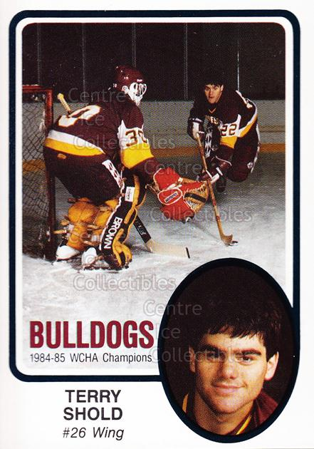 1985-86 Minnesota-Duluth Bulldogs #2 Terry Shold<br/>7 In Stock - $3.00 each - <a href=https://centericecollectibles.foxycart.com/cart?name=1985-86%20Minnesota-Duluth%20Bulldogs%20%232%20Terry%20Shold...&quantity_max=7&price=$3.00&code=25623 class=foxycart> Buy it now! </a>