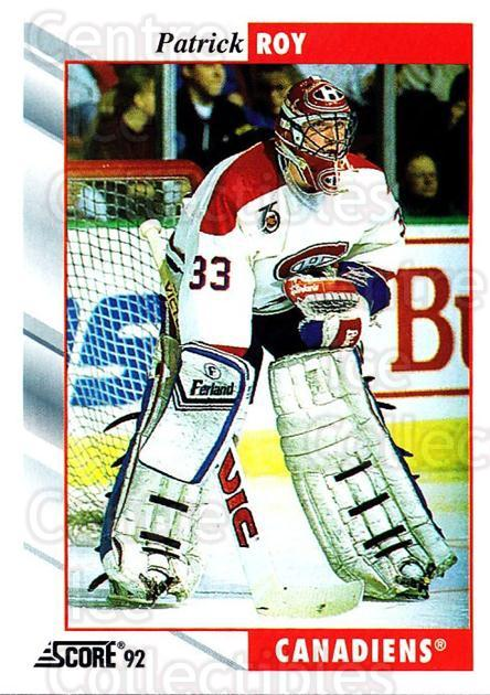1992-93 Score USA #295 Patrick Roy<br/>1 In Stock - $1.00 each - <a href=https://centericecollectibles.foxycart.com/cart?name=1992-93%20Score%20USA%20%23295%20Patrick%20Roy...&price=$1.00&code=256246 class=foxycart> Buy it now! </a>