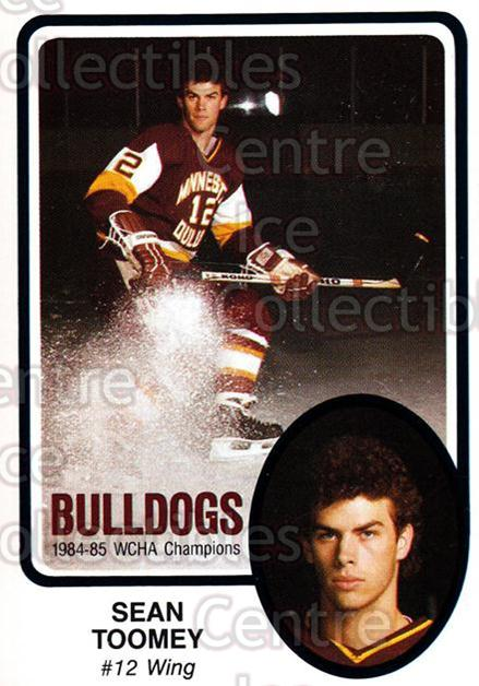 1985-86 Minnesota-Duluth Bulldogs #24 Sean Toomey<br/>5 In Stock - $3.00 each - <a href=https://centericecollectibles.foxycart.com/cart?name=1985-86%20Minnesota-Duluth%20Bulldogs%20%2324%20Sean%20Toomey...&quantity_max=5&price=$3.00&code=25628 class=foxycart> Buy it now! </a>