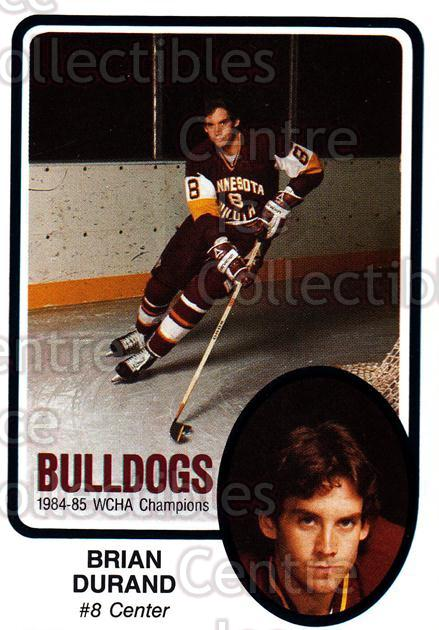 1985-86 Minnesota-Duluth Bulldogs #25 Brian Durand<br/>11 In Stock - $3.00 each - <a href=https://centericecollectibles.foxycart.com/cart?name=1985-86%20Minnesota-Duluth%20Bulldogs%20%2325%20Brian%20Durand...&quantity_max=11&price=$3.00&code=25629 class=foxycart> Buy it now! </a>