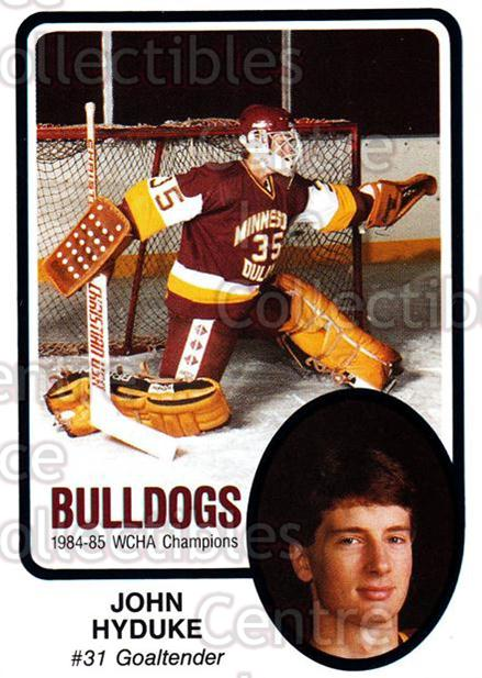 1985-86 Minnesota-Duluth Bulldogs #26 John Hyduke<br/>12 In Stock - $3.00 each - <a href=https://centericecollectibles.foxycart.com/cart?name=1985-86%20Minnesota-Duluth%20Bulldogs%20%2326%20John%20Hyduke...&quantity_max=12&price=$3.00&code=25630 class=foxycart> Buy it now! </a>