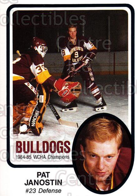 1985-86 Minnesota-Duluth Bulldogs #30 Pat Janostin<br/>14 In Stock - $3.00 each - <a href=https://centericecollectibles.foxycart.com/cart?name=1985-86%20Minnesota-Duluth%20Bulldogs%20%2330%20Pat%20Janostin...&quantity_max=14&price=$3.00&code=25634 class=foxycart> Buy it now! </a>