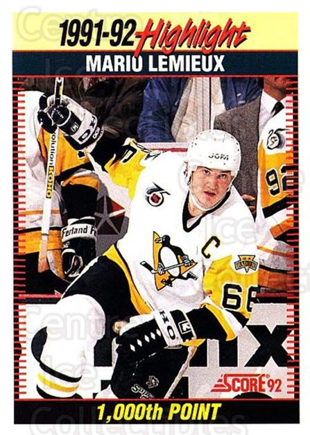 1992-93 Score USA #448 Mario Lemieux<br/>1 In Stock - $2.00 each - <a href=https://centericecollectibles.foxycart.com/cart?name=1992-93%20Score%20USA%20%23448%20Mario%20Lemieux...&price=$2.00&code=256399 class=foxycart> Buy it now! </a>