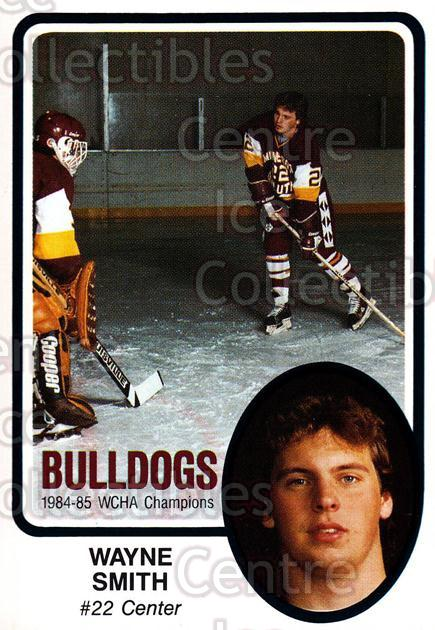 1985-86 Minnesota-Duluth Bulldogs #6 Wayne Smith<br/>12 In Stock - $3.00 each - <a href=https://centericecollectibles.foxycart.com/cart?name=1985-86%20Minnesota-Duluth%20Bulldogs%20%236%20Wayne%20Smith...&quantity_max=12&price=$3.00&code=25642 class=foxycart> Buy it now! </a>