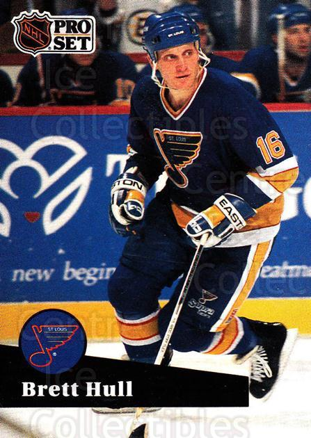 1991-92 Pro Set #215 Brett Hull<br/>4 In Stock - $1.00 each - <a href=https://centericecollectibles.foxycart.com/cart?name=1991-92%20Pro%20Set%20%23215%20Brett%20Hull...&price=$1.00&code=256716 class=foxycart> Buy it now! </a>