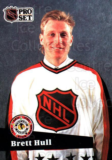 1991-92 Pro Set #290 Brett Hull<br/>5 In Stock - $1.00 each - <a href=https://centericecollectibles.foxycart.com/cart?name=1991-92%20Pro%20Set%20%23290%20Brett%20Hull...&price=$1.00&code=256791 class=foxycart> Buy it now! </a>