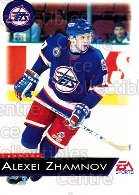 1994 EA Sports #147 Alexei Zhamnov<br/>4 In Stock - $1.00 each - <a href=https://centericecollectibles.foxycart.com/cart?name=1994%20EA%20Sports%20%23147%20Alexei%20Zhamnov...&quantity_max=4&price=$1.00&code=2567 class=foxycart> Buy it now! </a>