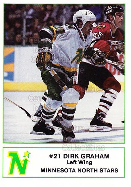 1985-86 Minnesota North Stars 7-Eleven 7-11 #12 Dirk Graham<br/>3 In Stock - $3.00 each - <a href=https://centericecollectibles.foxycart.com/cart?name=1985-86%20Minnesota%20North%20Stars%207-Eleven%207-11%20%2312%20Dirk%20Graham...&quantity_max=3&price=$3.00&code=25687 class=foxycart> Buy it now! </a>