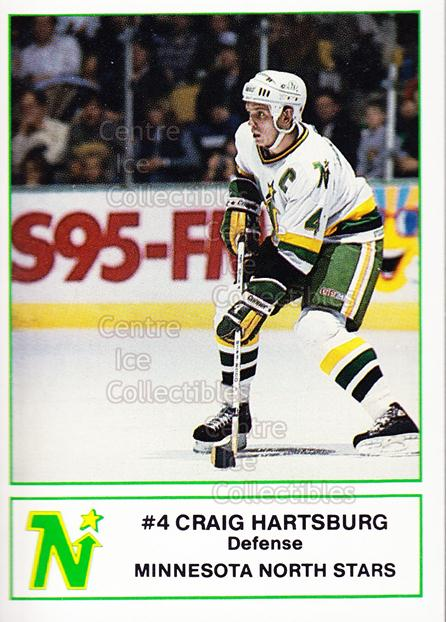 1985-86 Minnesota North Stars 7-Eleven 7-11 #8 Craig Hartsburg<br/>5 In Stock - $3.00 each - <a href=https://centericecollectibles.foxycart.com/cart?name=1985-86%20Minnesota%20North%20Stars%207-Eleven%207-11%20%238%20Craig%20Hartsburg...&quantity_max=5&price=$3.00&code=25694 class=foxycart> Buy it now! </a>