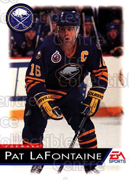 1994 EA Sports #15 Pat LaFontaine<br/>6 In Stock - $1.00 each - <a href=https://centericecollectibles.foxycart.com/cart?name=1994%20EA%20Sports%20%2315%20Pat%20LaFontaine...&quantity_max=6&price=$1.00&code=2569 class=foxycart> Buy it now! </a>