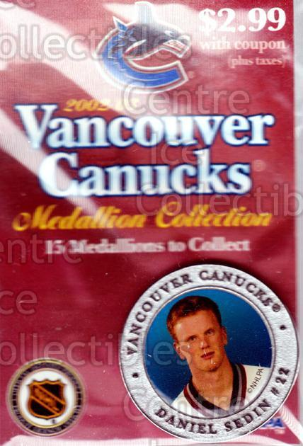 2002-03 Vancouver Canucks Medallion #11 Daniel Sedin<br/>1 In Stock - $5.00 each - <a href=https://centericecollectibles.foxycart.com/cart?name=2002-03%20Vancouver%20Canucks%20Medallion%20%2311%20Daniel%20Sedin...&price=$5.00&code=257136 class=foxycart> Buy it now! </a>