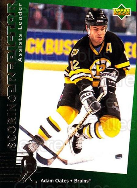 1994-95 Upper Deck Predictor Retail Exchange Gold #12 Adam Oates<br/>8 In Stock - $3.00 each - <a href=https://centericecollectibles.foxycart.com/cart?name=1994-95%20Upper%20Deck%20Predictor%20Retail%20Exchange%20Gold%20%2312%20Adam%20Oates...&quantity_max=8&price=$3.00&code=257189 class=foxycart> Buy it now! </a>