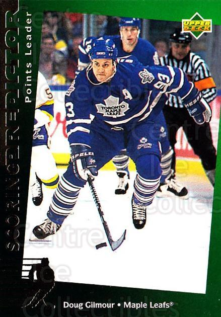 1994-95 Upper Deck Predictor Retail Exchange Gold #27 Doug Gilmour<br/>3 In Stock - $3.00 each - <a href=https://centericecollectibles.foxycart.com/cart?name=1994-95%20Upper%20Deck%20Predictor%20Retail%20Exchange%20Gold%20%2327%20Doug%20Gilmour...&quantity_max=3&price=$3.00&code=257204 class=foxycart> Buy it now! </a>