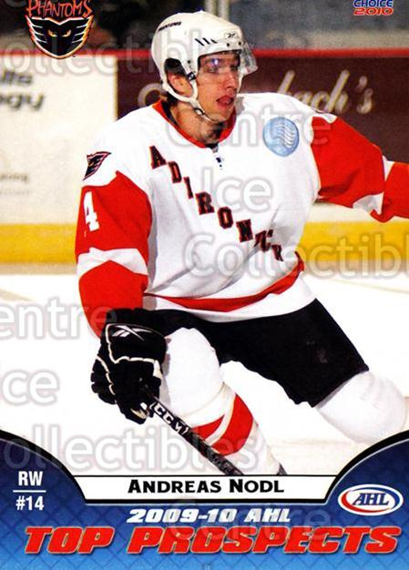 2009-10 AHL Top Prospects #3 Andreas Nodl<br/>2 In Stock - $3.00 each - <a href=https://centericecollectibles.foxycart.com/cart?name=2009-10%20AHL%20Top%20Prospects%20%233%20Andreas%20Nodl...&price=$3.00&code=257260 class=foxycart> Buy it now! </a>